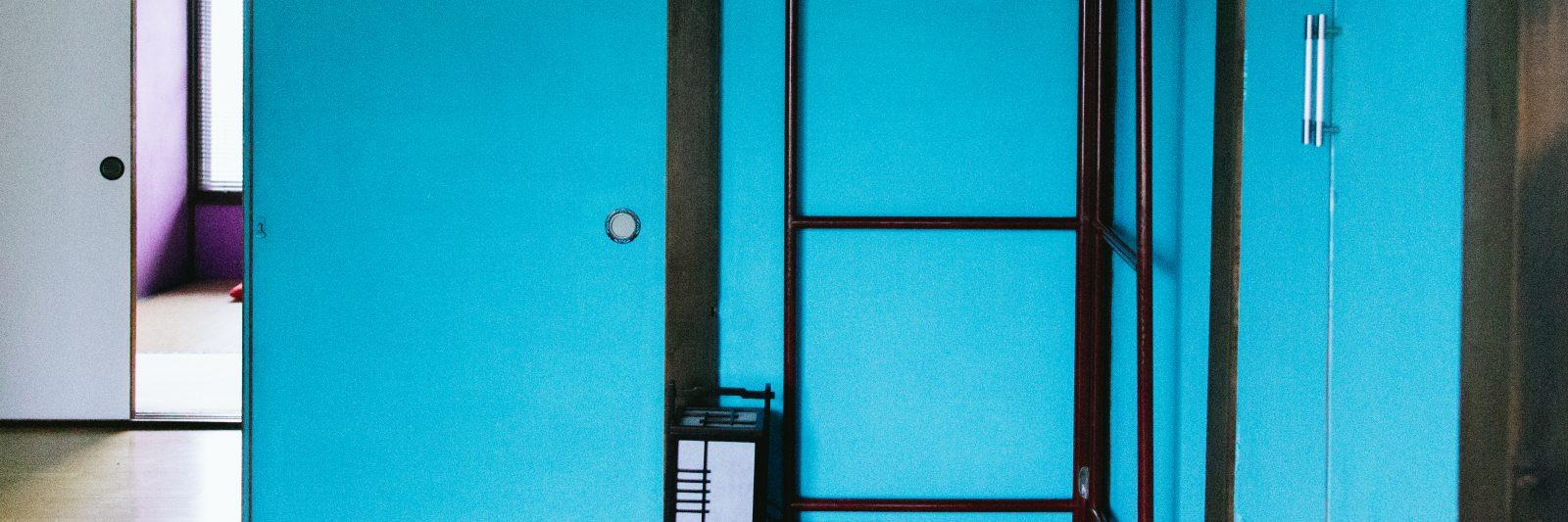 The blue room at guesthouse tabi-tabi Shimoda